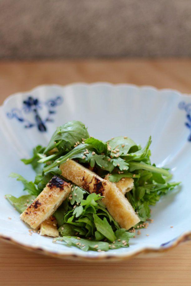 菊菜とお揚げさんのサラダ