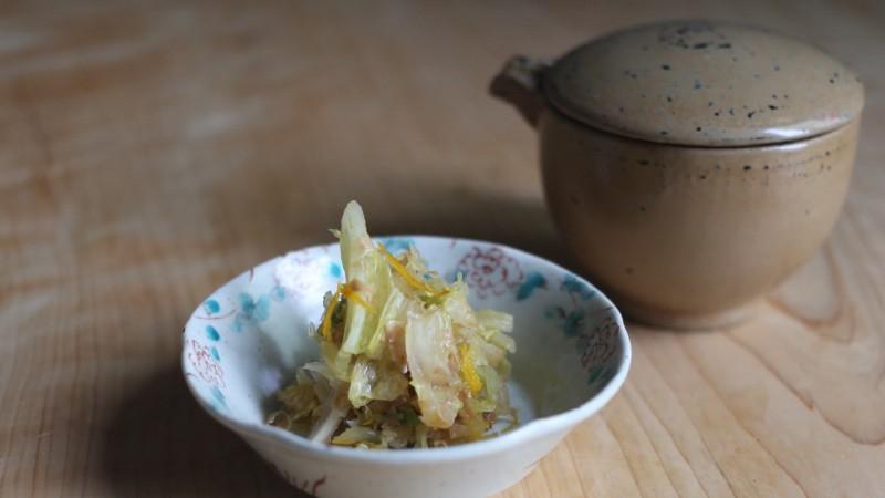 白菜の柚香漬け