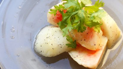 白桃とアールグレイのサラダ