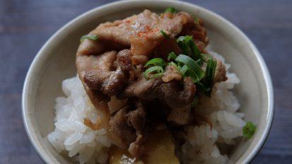 栗ご飯と豚肉の甘辛煮